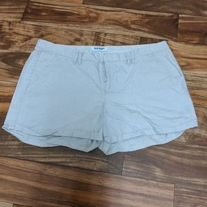 Old Navy cream Jean shorts size 14